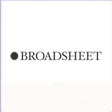 Broadsheet frame